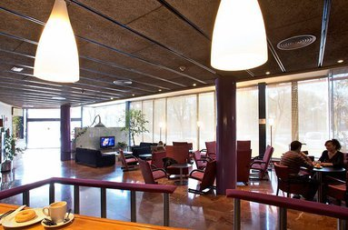 The hotel cafe offers a perfect environment to spend some ...