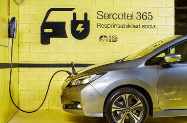 The Sercotel Madrid Aeropuerto has spaces with chargers for electric ...